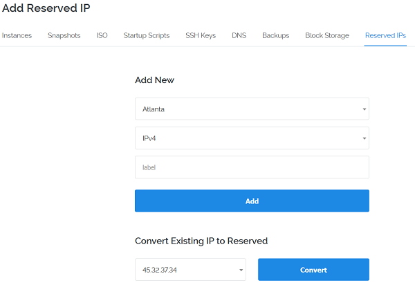 vultr-Reserved-IP